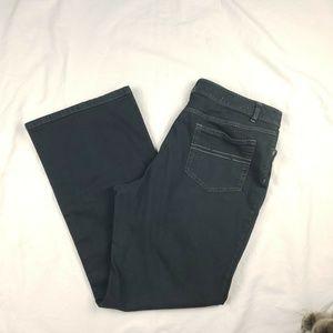 J. Jill Jeans Stretch Black Denim Bootcut 5 pocket